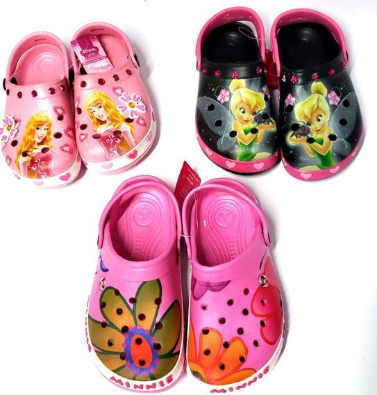 Crocs Sandalias De Goma Addnice Minnie Princesa Tinkerbell