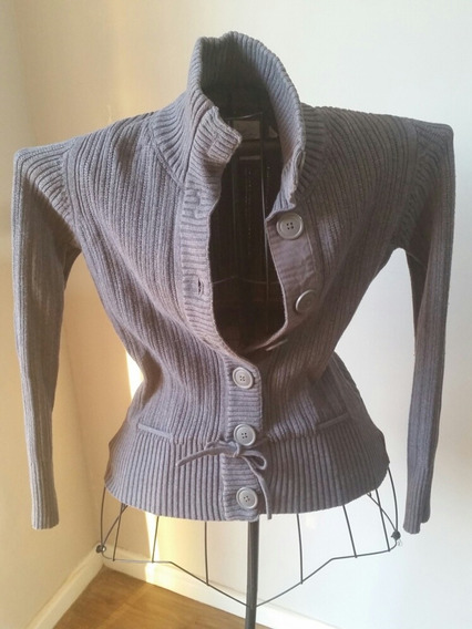 Sweater H&m Gris De Lana