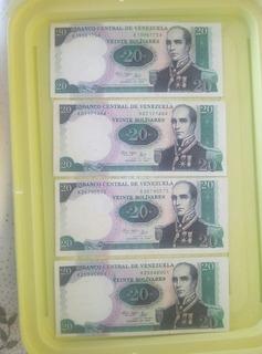 Billetes De 20 Bolívares Antiguos Sin Circular