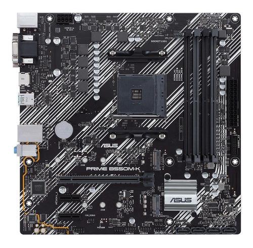 Imagen 1 de 9 de Mother Asus Prime B550m-k Amd Ddr4 B550 Ryzen 3 Gen Pcie 4.0
