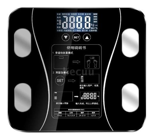 Balanza Bascula Medidor Grasa Corporal Digital 180kg