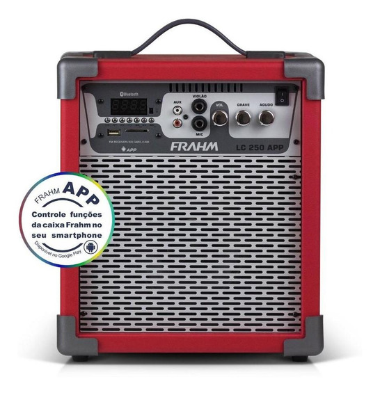 Caixa Amplificada Frahm Lc250 App Vermelha