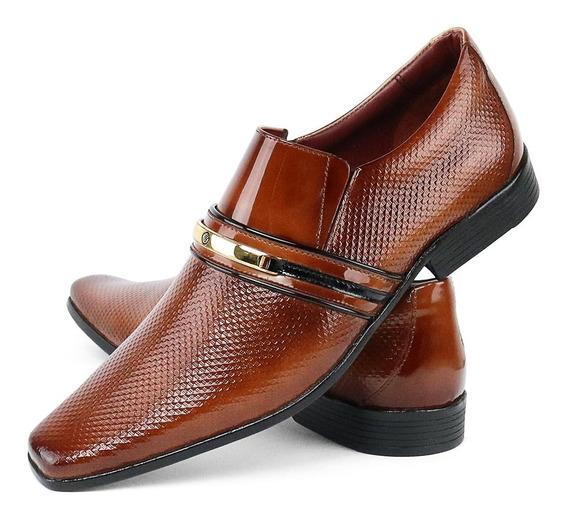 Sapato Social Masculino Couro Clássico Original Lançamento