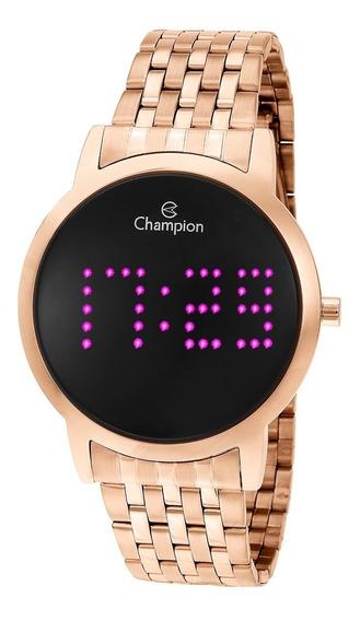 Relógio Champion Feminino Ch40008h Digital, Rosé, Led