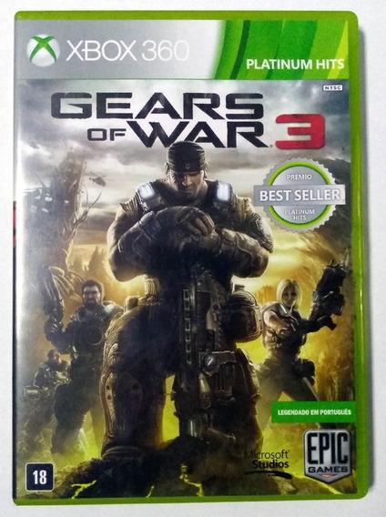Gears Of War 3 Xbox 360 Mídia Física