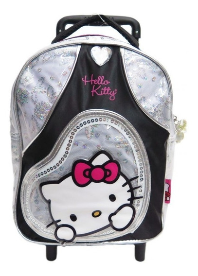 Mochila Colegial Con Carro Hello Kitty 0406 - Children