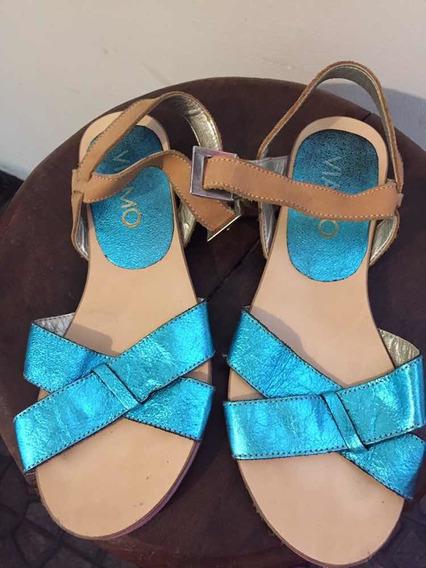 Sandalias Metalizadas Viamo