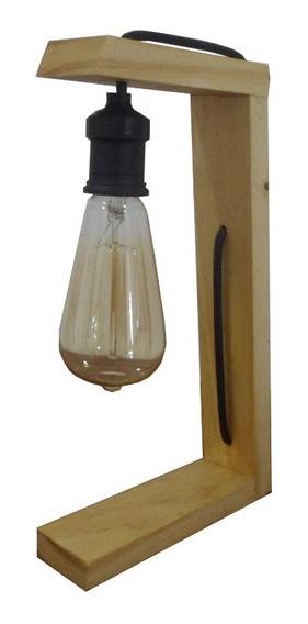 Abajur Luminária De Madeira Design Moderno