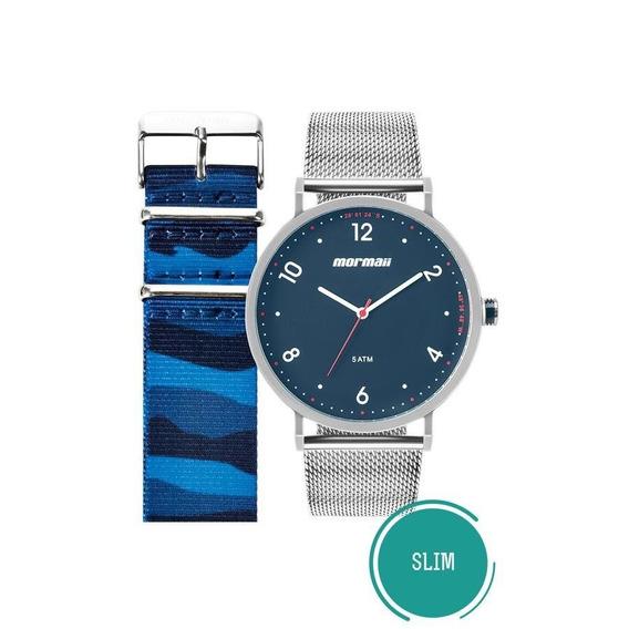 Relógio Mormaii Masculino Mo1l32ab/t1a Troca Pulseira