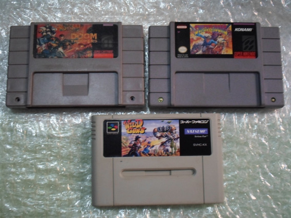 Sunsetriders + Wild Guns + Doom Troopers Pra Super Nintendo.