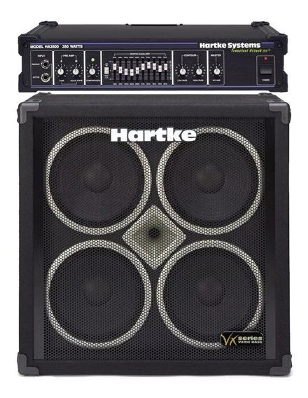 Amplificador De Bajo Hartke Cabezal Ha3500 + Caja Vx410