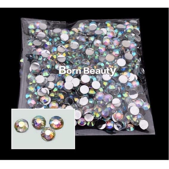 1000 Pcs Strass Acrílico Cor Cristal Ab 4mm P/ Arte Em Unhas