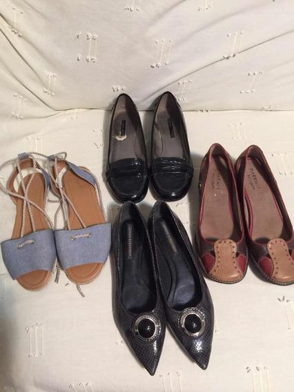 Sapatos Femininos Kit Com 6 Impecáveis De Marca Famosas