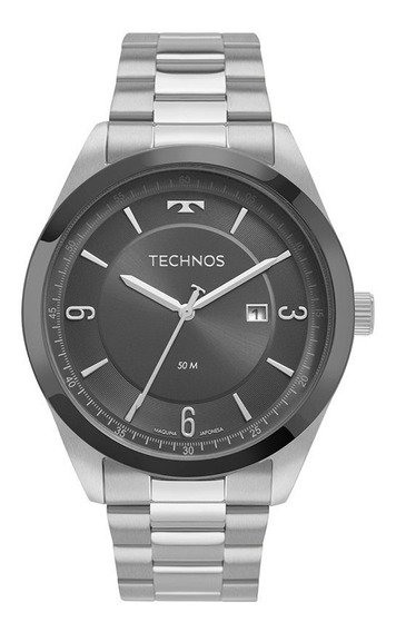 Relógio Technos Masculino Aço Grafite 2117lbq/1c