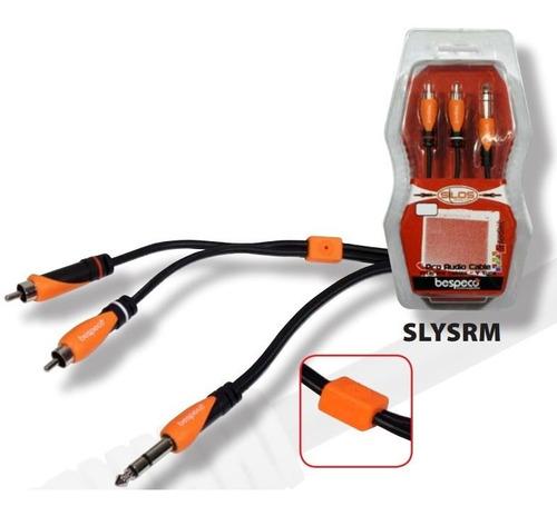Imagen 1 de 5 de Cable Bespeco 2 Rca A  Plug 6.5st. 1.80. M.blister Sellado
