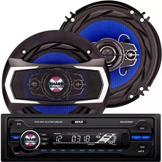 Combo Stereo Bluetooth B52 + 2 Parlante B52 6 Pulgadas 500w