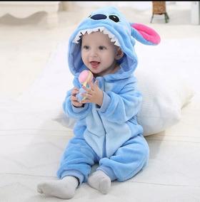 Macacão Infantil Pelúcia Stitch. (importado)