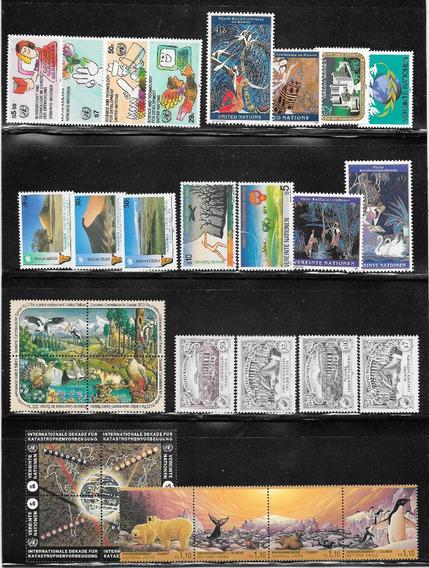 Naciones Unidas, Colección De 47 Estampillas Mint Impecables - Vea 2 Scans -