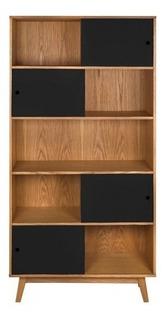 Librero Gaia Evo Madera Moderno Mueble Juguetero Negro