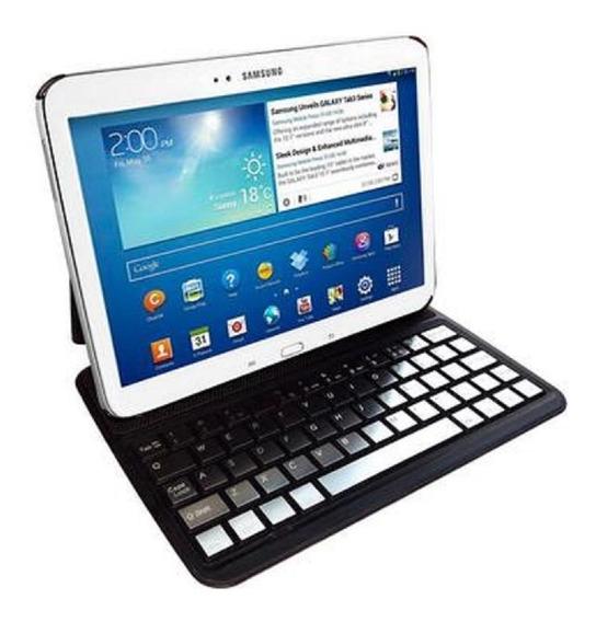 Capa Teclado Bluetooth Galaxy Tab 3 10.1 Gt-p5200 P5220