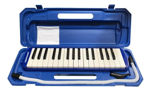 Pianica Melódica Hoffmann Ytm-32a Bl Azul Con Estuche Nueva