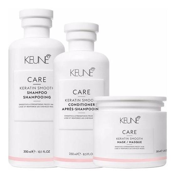 Keune Care Keratin Smooth Sh 300ml + Cond 250ml+ Másc 200ml