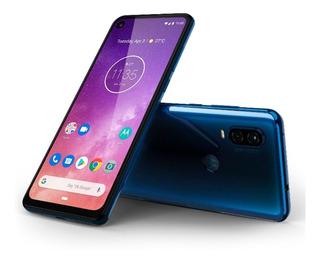 Smartphone Motorola One Vision 128gb 9.0 4g Azul Safira Novo