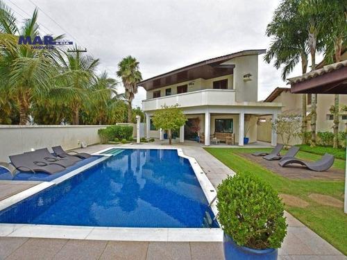 Casa Com 4 Dormitórios À Venda, 460 M² Por R$ 2.800.000,00 - Acapulco - Guarujá/sp - Ca0707