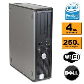 Pc Cpu Dell Optiplex Intel Dual Core 4gb Hd 250gb Wifi