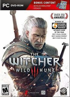 Pc Witcher 3 Wild Hunt Fisico Nuevo Bonus Entrega Inmediata