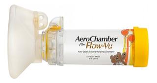Aerochamber Plus Con Mascara Mediana Niños 1 A 5 Años