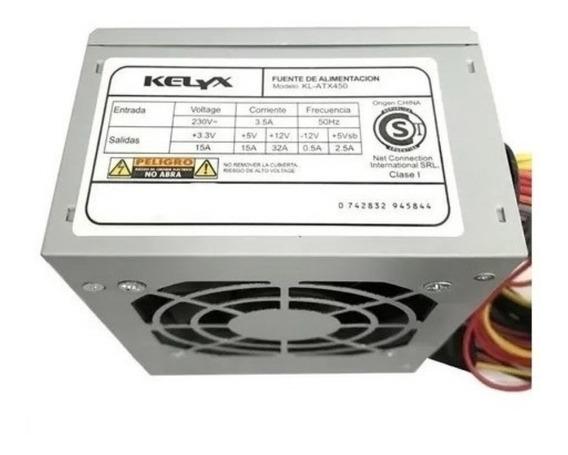 Fuente Slim Mini Kelyx Kl-atx450 Con Cable Power