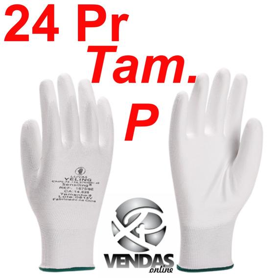 Luva Anti Estática Limpeza Computador Brancas Com Pu 24 Prs
