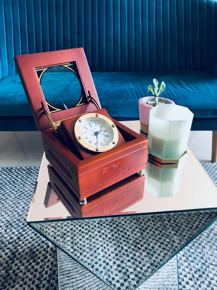 Reloj De Escritorio Insignia Cherry Wood Quartz