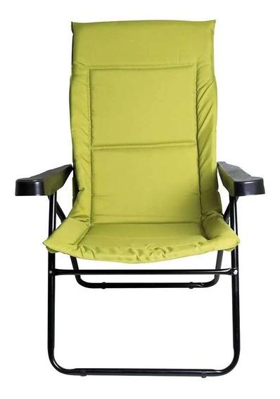 Cadeira Alfa 4 Posições Com Porta Copos Verde Mor