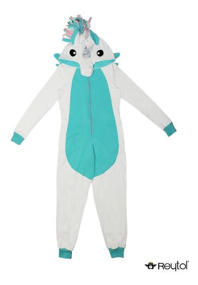 Kigurumi Unicornio Blanco C/ Turquesa(pijama) Envío Incluido