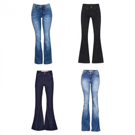 Calça Jeans Flare Feminina Tamanhos 36,38,40,42,44