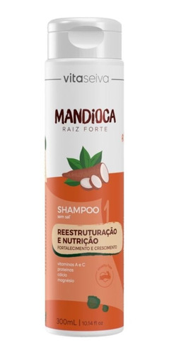 Imagem 1 de 7 de Shampoo Mandioca Raiz Forte Vita Seiva 300ml