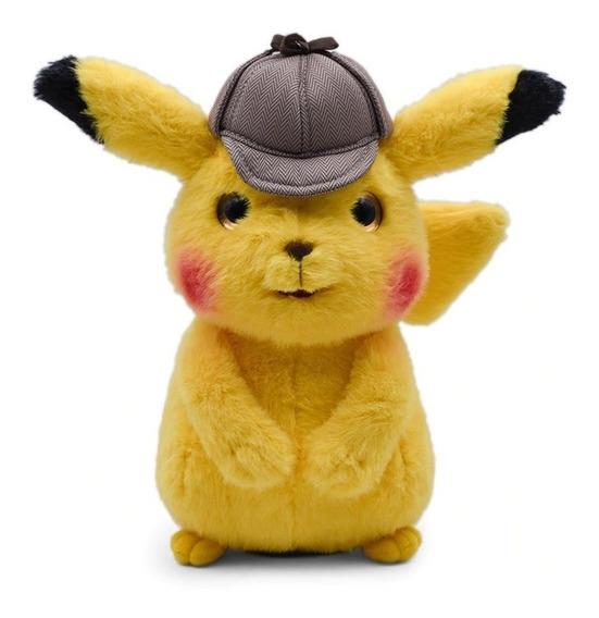 Detetive Pikachu O Filme - Pelúcia Original Pokemon 25cm M2