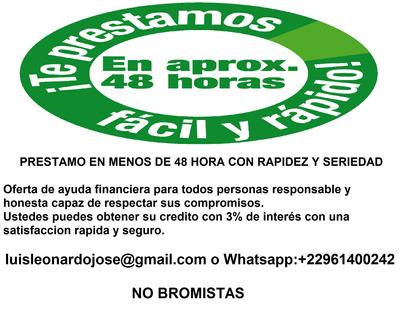 Credito Seguro Y Rapido Whastapp: +22961400242