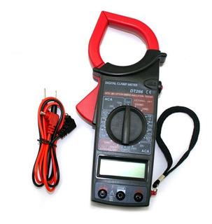 Pinza Amperimetrica Tester Multimetro Digital Dt266 Ac