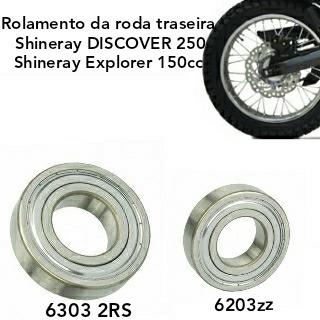 Rolamentos Roda Traseira Shineray Explorer 150/discover 250