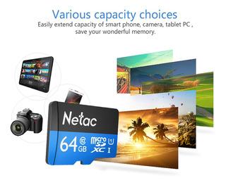 Tarjeta Memoria Flash Netac P500 Clase 10 64g Micro Sdxc Tf