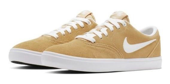 Zapatillas Nike Sb Check - Womens Mujer Bq3240-202 Cuero
