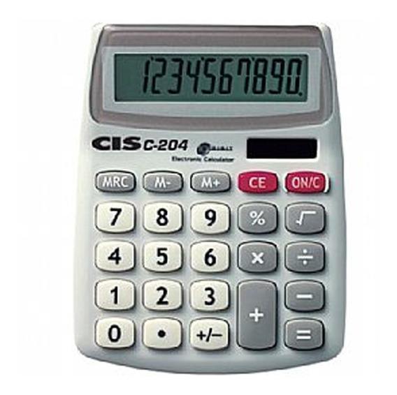 Calculadora De Mesa 10 Dígitos C-204 Cis Solar/bateria