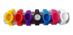 Relógio Snap Wear 7 Pulseiras Color Unissex Higiênico - C/nf