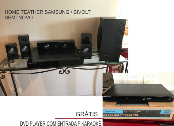 Home Teather Samsung (grátis Dvd Player C/ Entrada Karaokê)