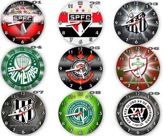 Kit C/ 10 Relógios Parede Atacado Decoração Times De Futebol