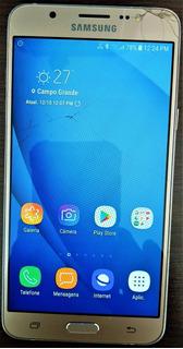 Celular J7 Metal Semi Novo Com Tela Trincada