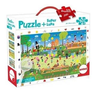 Puzzle Rompecabezas Infantil Antex Con Lupa 50 Piezas